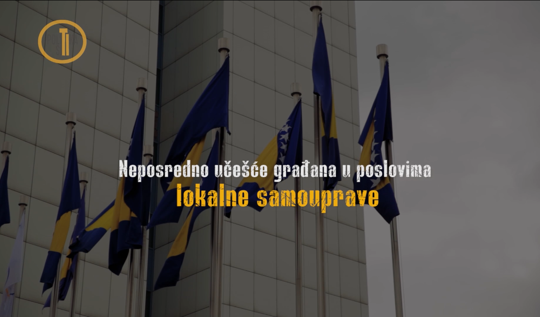 VIDEO: Neposredno učešće građana u poslovima lokalne samouprave