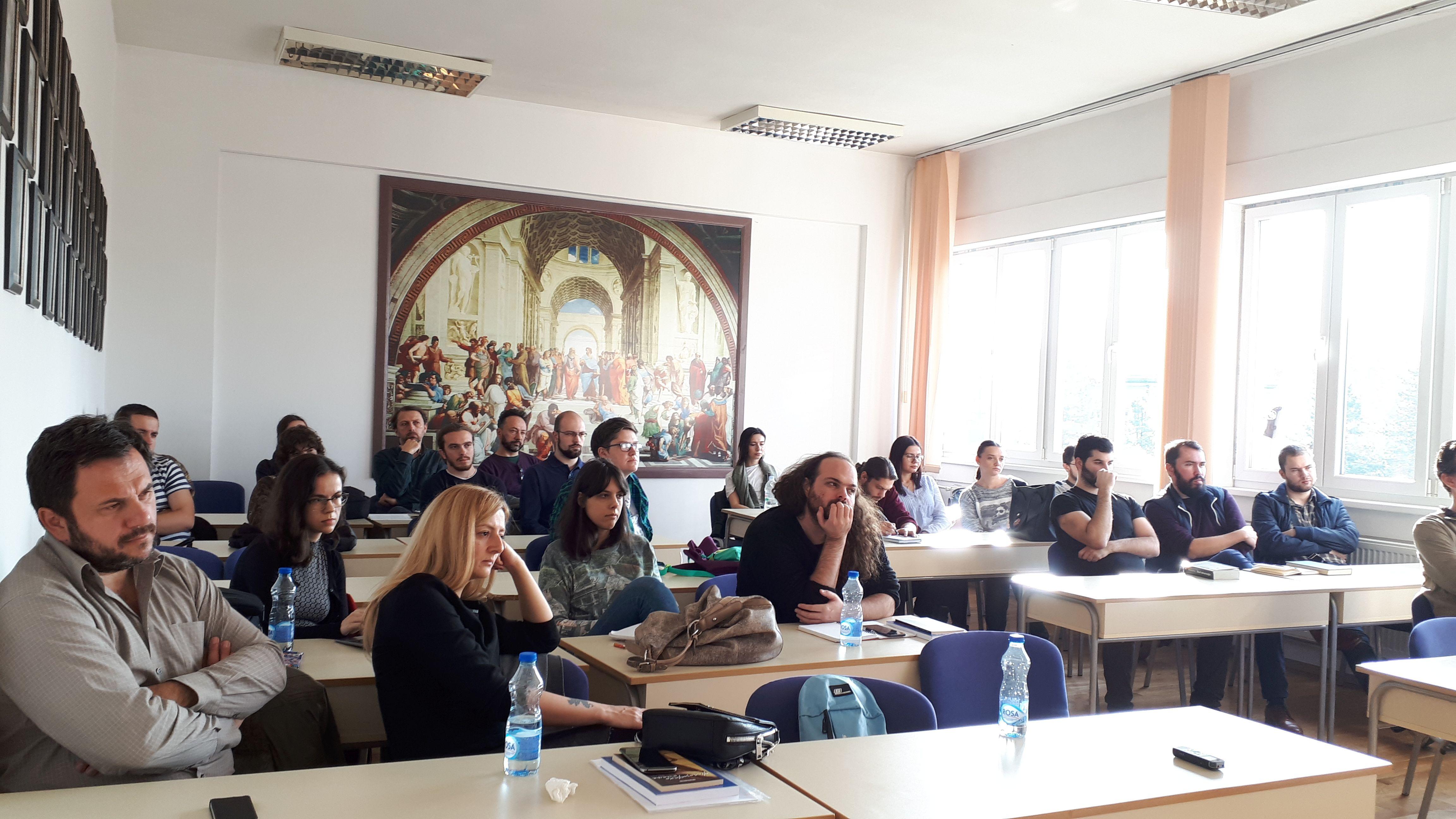 Predavanje Jelene Ćeriman i Miloša Cipranića na Filozofskom fakultetu u Banjaluci